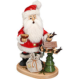 Smoker  -  Santa Claus with Aviary  -  22cm / 9 inch
