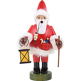 Smoker  -  Santa Claus with Lantern  -  21cm  -  8 inch