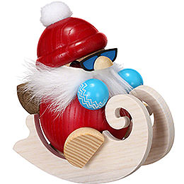 Smoker  -  Santa with Sleigh  -  Ball Figure  -  12cm / 4.7 inch