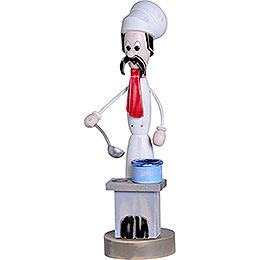 "Smoker  -  ""Shabby Chic"" Cook with Stove  -  40cm / 15.7 inch"