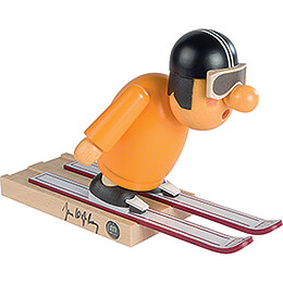 Smoker  -  Ski Jumper with original Signature by Jens Weißflog  -  16cm / 6.3 inch