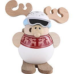Smoker  -  Ski - Moose  -  Ball Figure  -  11cm / 4 inch