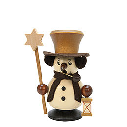 Smoker  -  Snowboy with Star Natural Colors  -  10,5cm / 4 inch