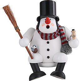 Smoker  -  Snowman  -  17cm / 7 inch