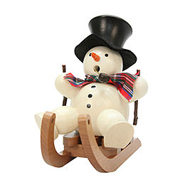 Smoker  -  Snowman on Sleigh  -  10,5cm / 4 inch