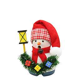 Smoker  -  Snowman with Lantern  -  9,5cm / 4 inch