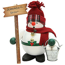 Smoker  -  Snowman with Snowballs  -  17cm / 7 inch