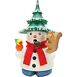 Smoker  -  Snowman with Tree  -  11,5cm / 4.5 inch