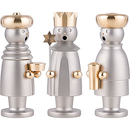 Smoker  -  The Three Wise Men  -  Stainless Steel, Glass Bead blasted  -  15cm / 5.9 inch