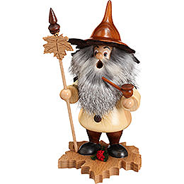 Smoker  -  Tree Gnome, Maple Leaf  -  18cm / 7 inch