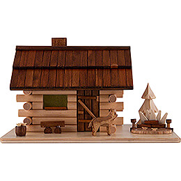 Smoking Hut  -   Garden Log Cabin  -  10,5cm / 4.1 inch
