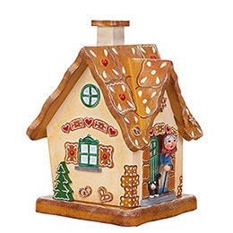 Smoking Hut  -  Gingerbread House  -  17cm / 6.7 inch