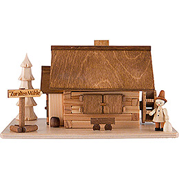 Smoking Hut  -  Old Mill with Wanderer  -  10cm / 4 inch