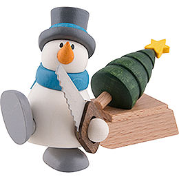 Snow Man Otto with Sleigh and Tree  -  9cm / 3.5 inch