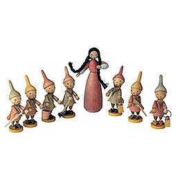 Snow White and 7 Dwarfs  -  6cm / 2 inch