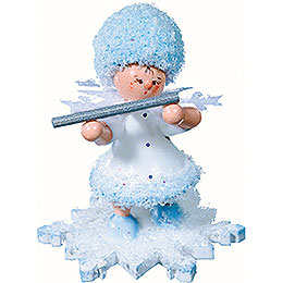 Snowflake with Piccolo  -  5cm / 2 inch