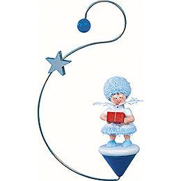 Snowflake with Present  -  12x7x3cm / 4.7x2.8x1 inch