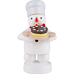 Snowman Baker with Pie  -  8cm / 3.1 inch