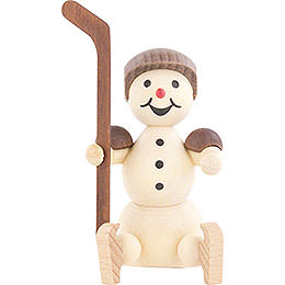 Snowman Ice Hockey Player Substitute Helmet  -  8cm / 3.1 inch