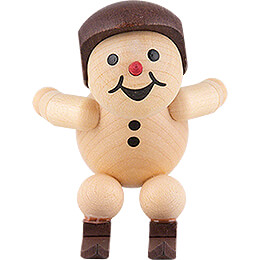 "Snowman  -  Junior ""Ski jumper at the jump - off"" with helmet  -  5cm / 2 inch"
