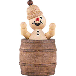 "Snowman  -  Junior ""resting in the barrel""  -  7cm / 2.8 inch"