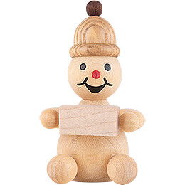 "Snowman  -  Junior ""with igloo module"" sitting  -  7cm / 2.8 inch"