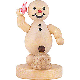 "Snowman  -  Junior ""with scarf""  -  8cm / 3.1 inch"