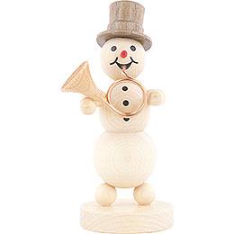 Snowman Musician Hornblower  -  12cm / 4.7 inch