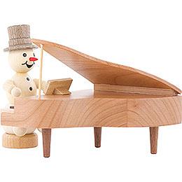 Snowman Musician Piano  -  12cm / 4.7 inch