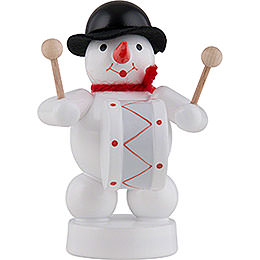 Snowman Musician with Kettledrum  -  8cm / 3 inch