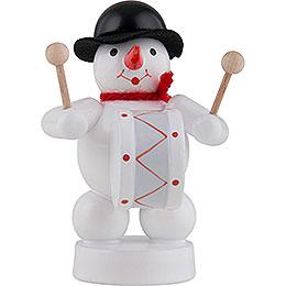 Snowman Musician with Kettledrum  -  8cm / 3 inch