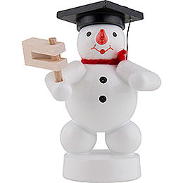 Snowman Musician with Ratchet  -  8cm / 3 inch