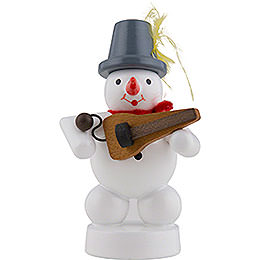 Snowman Musician with Symphonia  -  8cm / 3 inch
