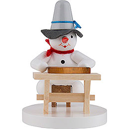 Snowman Zither Player  -  8cm / 3 inch