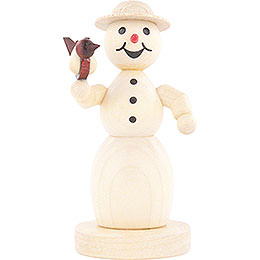 Snowwoman with Bird  -  11cm / 4.3 inch