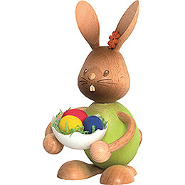 Snubby Bunny with Eggshell  -  12cm / 4.7 inch