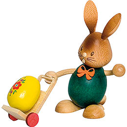 Snubby Bunny with Trolley  -  12cm / 4.7 inch