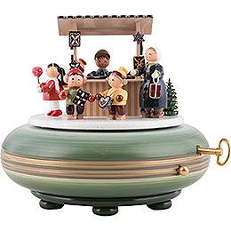 Spieldose Weihnachtsmarkt  -  16cm