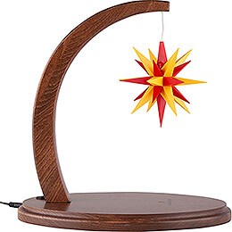 Star Arch Walnut with A1e Yellow - Red  -  29cm / 11.4 inch
