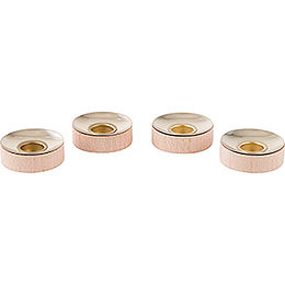 Tea Light Insets for Candles 1.4cm (0.55inch)  -  Set of Four