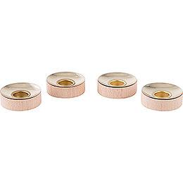 Teelichteinsätze für Kerzen 1,4cm  -  4er Set