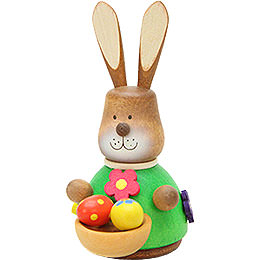 Teeter Bunny with Egg - Basket  -  9,8cm / 3.9 inch