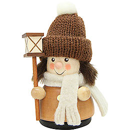 Teeter Figure Lantern Boy Natural  -  9,5cm / 3.7 inch