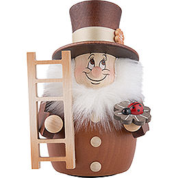Teeter Gnome Chimney Sweep Natural  -  12cm / 4.7 inch