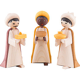 The Three Wise Men, Glazed  -  7cm / 2.8 inch