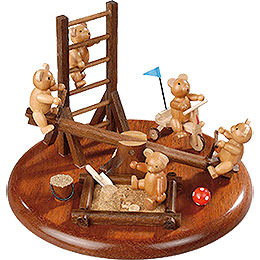 Theme Platform for Electr. Music Box 'Bear Playground'  -  15cm / 5.9 inch