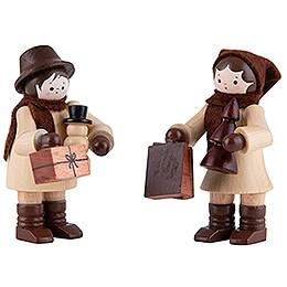 Thiel - Figur Einkaufspaar  -  natur  -  5,5cm