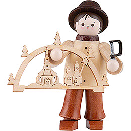 Thiel Figurine  -  Candle Arch Salesman  -  coloured  -  5,5cm / 2.2 inch