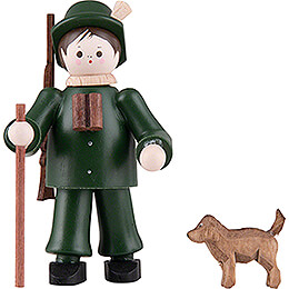 Thiel Figurine  -  Forester with Dog  -  coloured  -  6cm / 2.4 inch