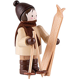 Thiel Figurine  -  Ski Carrier vertical  -  natural  -  5,5cm / 2.2 inch